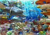 Jeux de puzzle : fond de mer