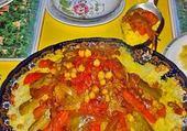 Puzzle plat marocain