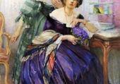 le bouquet de violettes -Edelfelt
