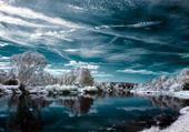 Puzzle Rivière en hiver