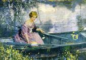 Puzzle gratuit femme sur une barque - Buehr