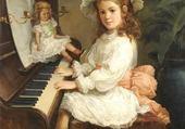 Jeux de puzzle : fillette au piano