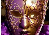Puzzles masque violet
