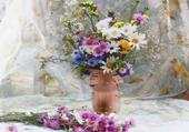 Jeu puzzle bouquet champêtre