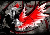 Jeux de puzzle : ange aux ailes flamboyantes