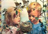 Jeu puzzle les enfants et le nid