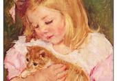 Puzzle en ligne chatons - Mary Cassatt
