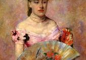 femme a éventail - Mary Cassatt
