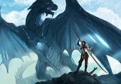 Puzzle guerrière & dragon