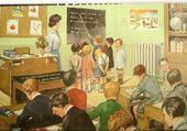 Puzzle école d'autrefois