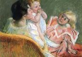 Puzzle en ligne mère et enfants - mary cassatt
