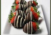 Puzzle fraise chocolat