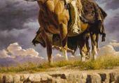 Puzzle Amérindienne à cheval