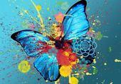 Jeu puzzle papillon