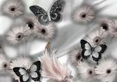 Puzzle Puzzle gratuit marguerite & papillon