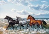 Puzzle chevaux dans la mer
