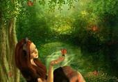 Puzzles Dame aux papillons