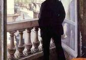 Jeux de puzzle : homme au balcon - caillebotte