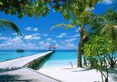 Puzzle gratuit plage maldives