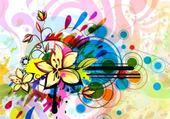 Puzzle gratuit fleur art déco