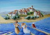 Jeux de puzzle : village de coudou en provence