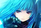Puzzle gratuit la fille au cheveux bleus