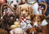 Puzzle mignons petits chiens