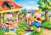 Puzzle les 3 petits cochons