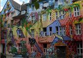 maisons colorées