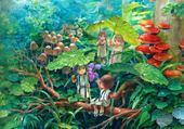Puzzle enfants dans les arbres