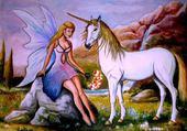fée et licorne