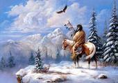 L'indien sur la colline