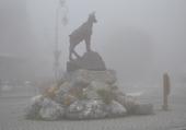 Valloire dans le brouillard