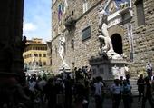 FLORENCE : L'entrée du Palazzo