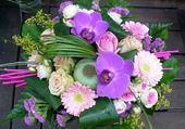 Très jolie composition florale