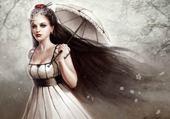fille a l ombrelle