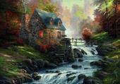 Le moulin ( Thomas KINDADE  )
