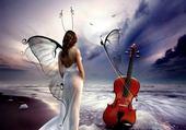 ange et violon
