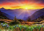 Soleil sur les montagnes