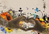 Puzzle mains coeur