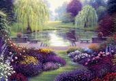 le lac fleurit