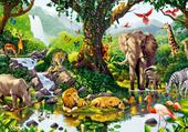 Puzzle le paradis des animaux