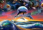 Puzzle l'univer des dauphins