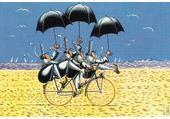 Puzzle bretonnes sur la plage