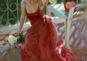 Beauté de la femme fleur