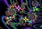 Puzzle fleurs multicolor