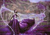 la femme en violet