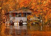 Puzzle Cabane  au bord de l'eau