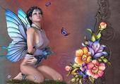 femme papillon 2