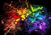 papillons coloré